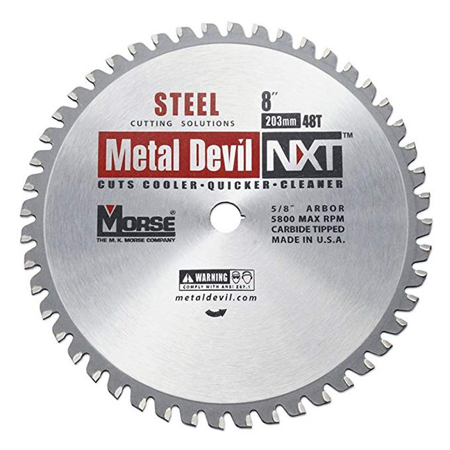 "MK Morse 101394 8"" 48T Metal Devil NXT Circular Saw Blade"