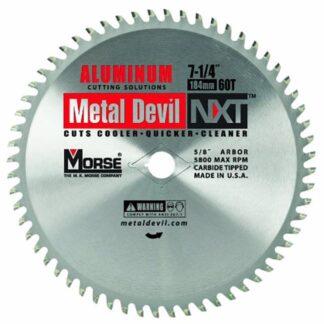 "MK Morse 101615 7-1/4"" 60T Metal Devil NXT Circular Saw Blade"