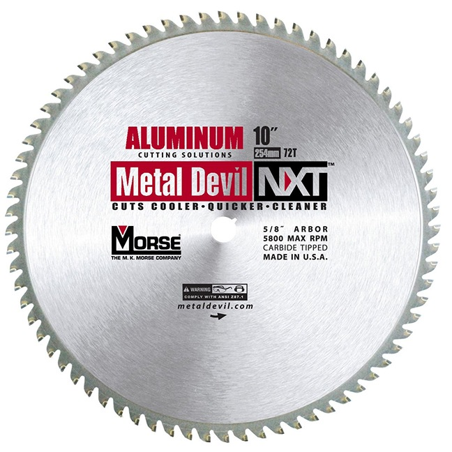 "MK Morse 101646 10"" 72T Metal Devil NXT Circular Saw Blade"