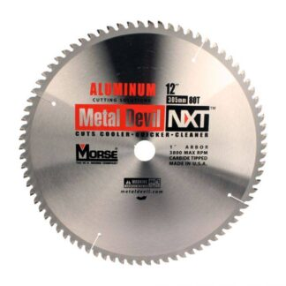 "MK Morse 101653 12"" 80T Metal Devil NXT Circular Saw Blade"