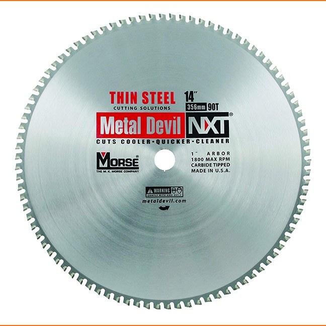"MK Morse 101844 14"" 90T Metal Devil NXT Circular Saw Blade"