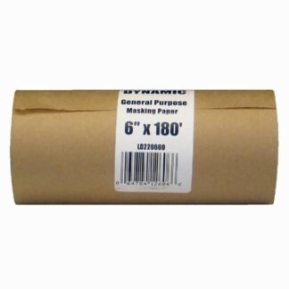 "Dynamic LD220600 6""x180' Painter's Masking Paper Dispenser Rolls"