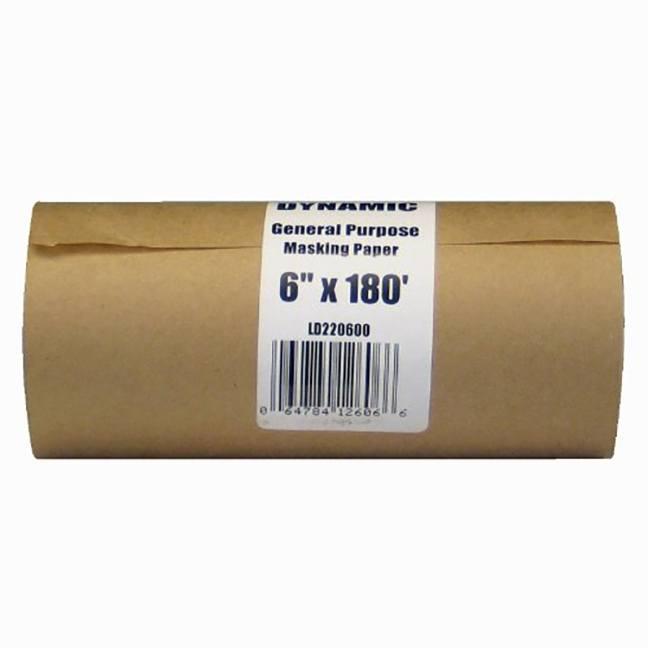 """Dynamic LD220600 6""""x180' Painter's Masking Paper Dispenser Rolls"""