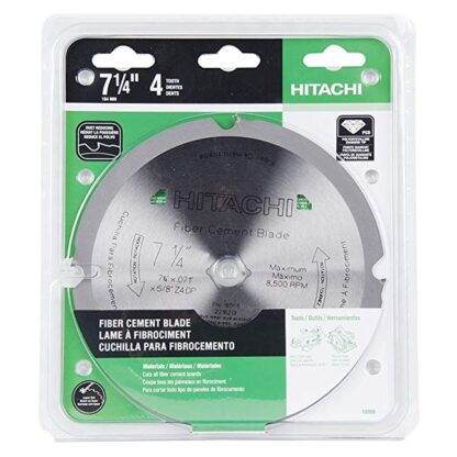 "Hitachi 18008 4T Polycrystalline Diamond 7-1/4"" Dry Cutting Fiber Cement Saw Blade"