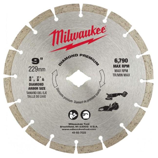 "Milwaukee 49-93-7025 9"" Diamond Premium Segmented Blade"