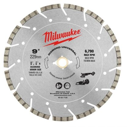 "Milwaukee 49-93-7125 9"" Diamond Universal Segmented Blade"