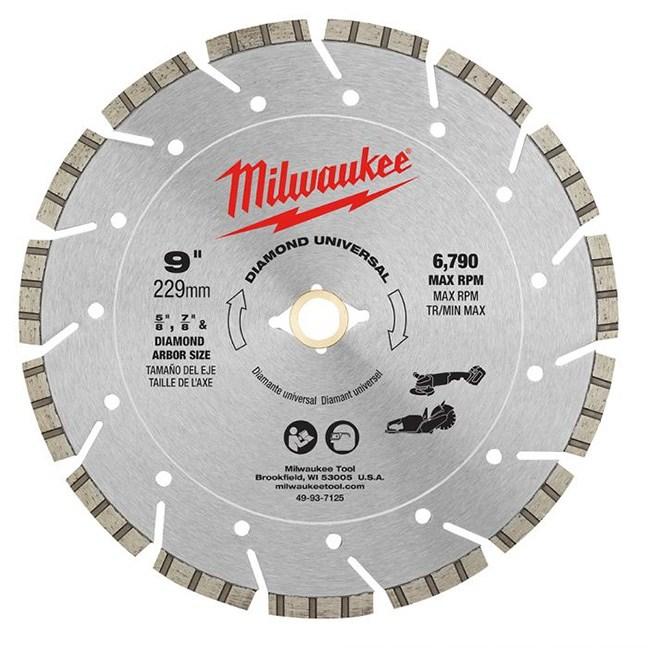"Milwaukee 49-93-7125 9"" Diamond Universal Segmented Blade"