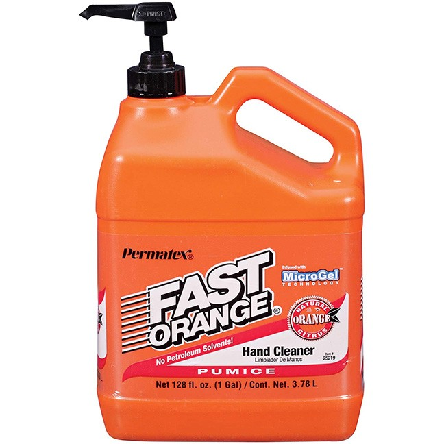 Permatex 25219 Fast Orange Pumice Lotion Hand Cleaner with Pump 1 Gallon