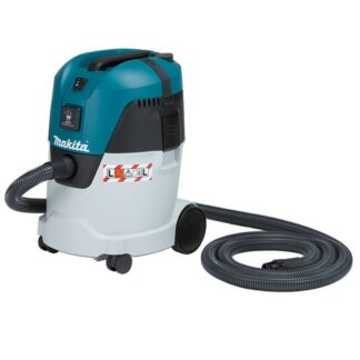 Makita VC2512L 25L Compact Push & Clean Wet Dry Dust Extractor