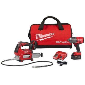 Milwaukee 2767-22GG M18 Impact Wrench and Grease Gun Kit