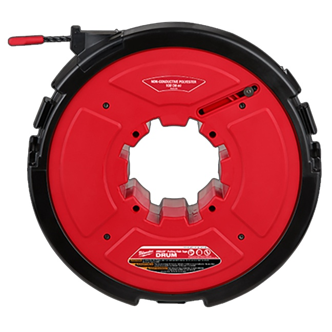 Milwaukee 48-44-5195 M18 FUEL Angler 100ft Non-Conductive Polyester Pulling Fish Tape Drum