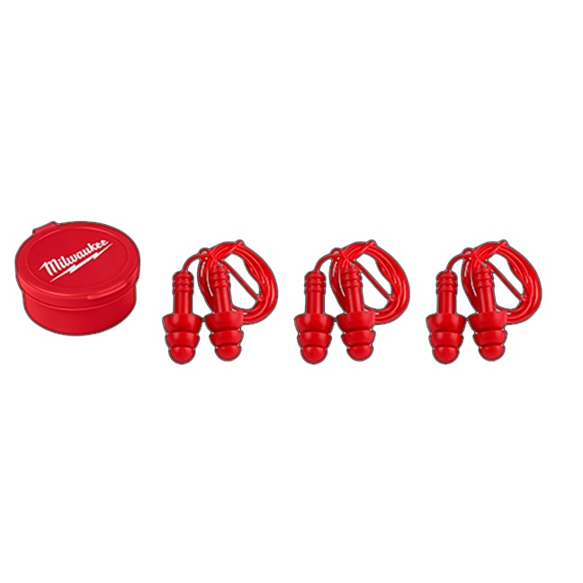 Milwaukee 48-73-3151 3PK Reusable Corded Earplugs