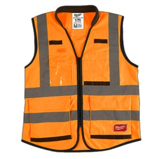 Milwaukee High Visibility Performance Safety Vest Orange