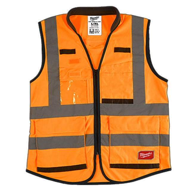 Milwaukee High Visibility Performance Safety Vest Orange