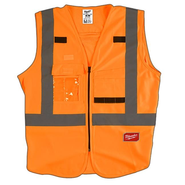 Milwaukee High Visibility Safety Vest Orange