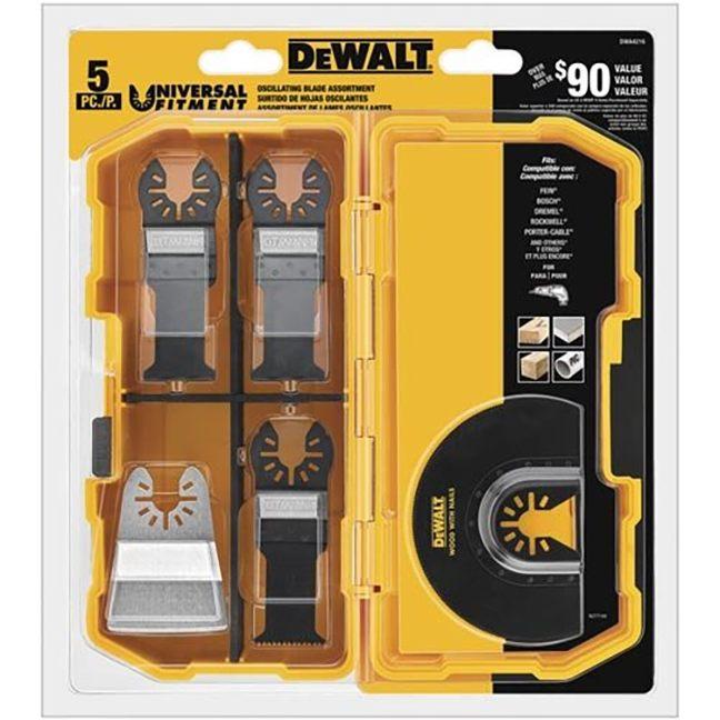 DeWalt DWA4216 Oscillating Blade Set 5-Piece