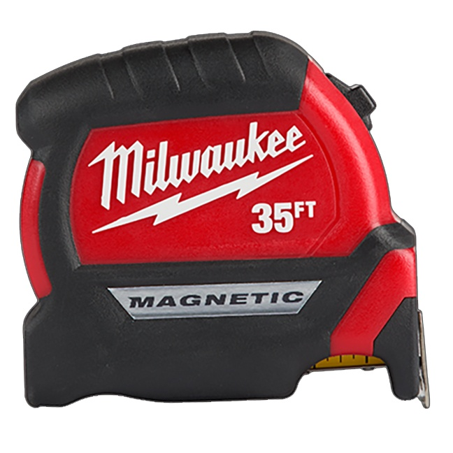 Milwaukee 48-22-0335 35ft Compact Wide Blade Magnetic Tape Measure