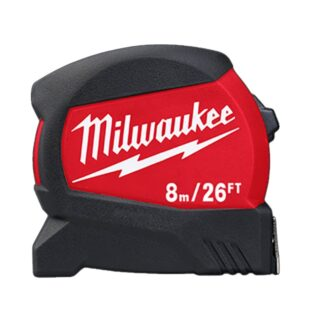 Milwaukee 48-22-0426 8m/26ft Compact Wide Blade Tape Measure
