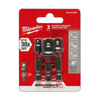 Milwaukee 48-32-5033 SHOCKWAVE Impact Hex Shank Socket Adapter Set