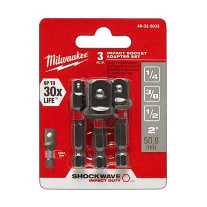 Milwaukee 48-32-5033 SHOCKWAVE Impact Hex Shank Socket Adapter Set