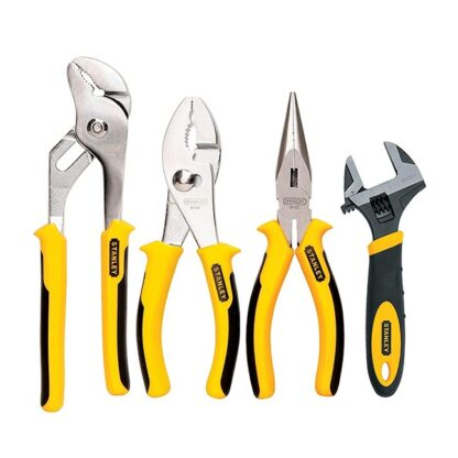 Stanley 84-558 4 Piece Plier & Adjustable Wrench Set