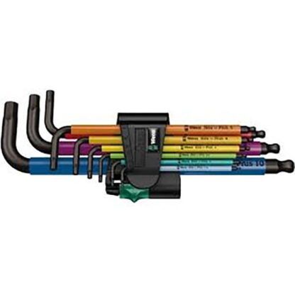 Wera 022089 950/9 Hex-Plus Multicolour Metric Allen L-Key Set