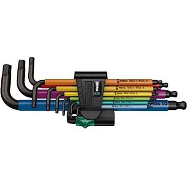 Wera 022089 950/9 Hex-Plus Multicolour Metric Allen L-Key Set