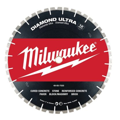 "Milwaukee 49-93-7535 12"" Diamond Ultra Segmented Blade"