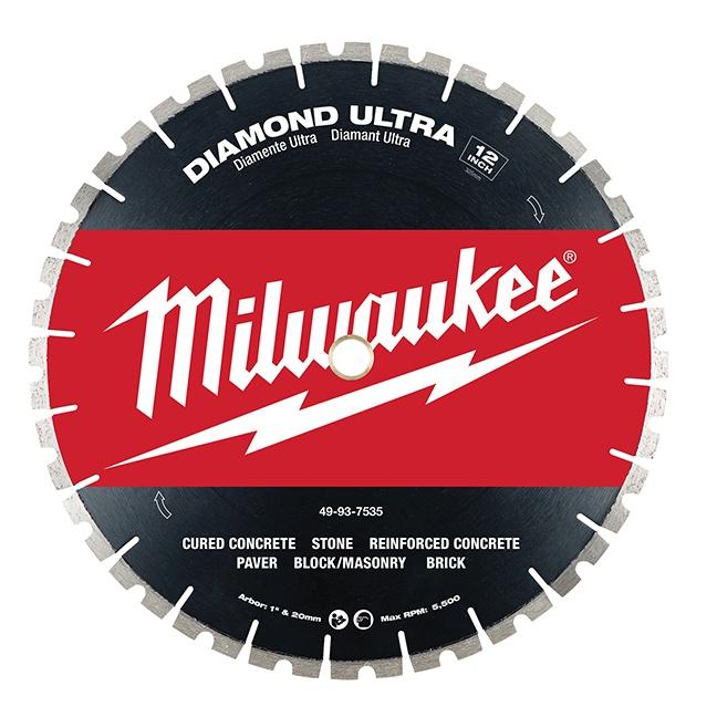 "Milwaukee 49-93-7535 12"" Diamond Ultra Segmented Blade"