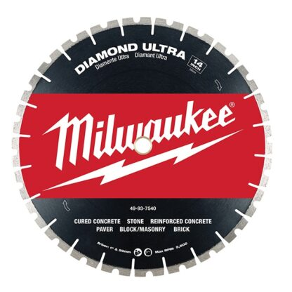 "Milwaukee 49-93-7540 14"" Diamond Ultra Segmented Blade"