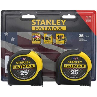 Stanley FMHT74038 Fatmax 25ft Tape Measure 2-Pack
