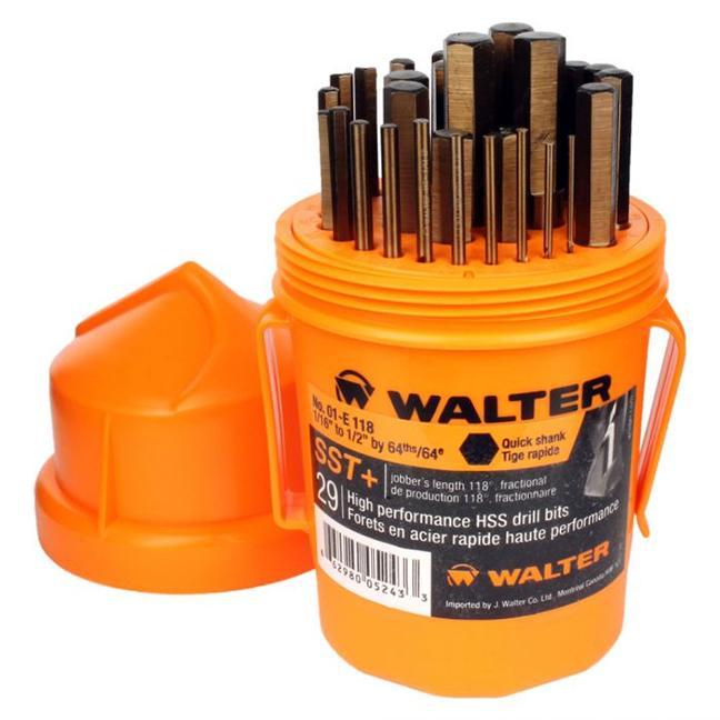 Walter 01E118 29PC Jobber Quickshank Drill Bit Set