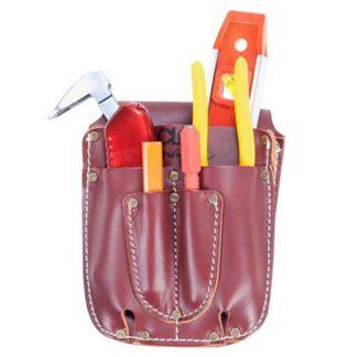 Kuny's 21503 Heavy Duty Leather Electrical Maintenance Tool Caddy 5 Pocket