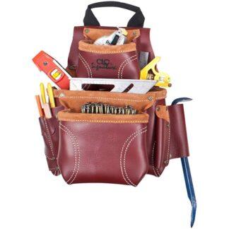 Kuny's 21685 Heavy Duty Leather Nail & Tool Bag 8 Pocket