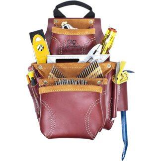 Kuny's 21687 Heavy Duty Leather Nail & Tool Bag 9 Pocket