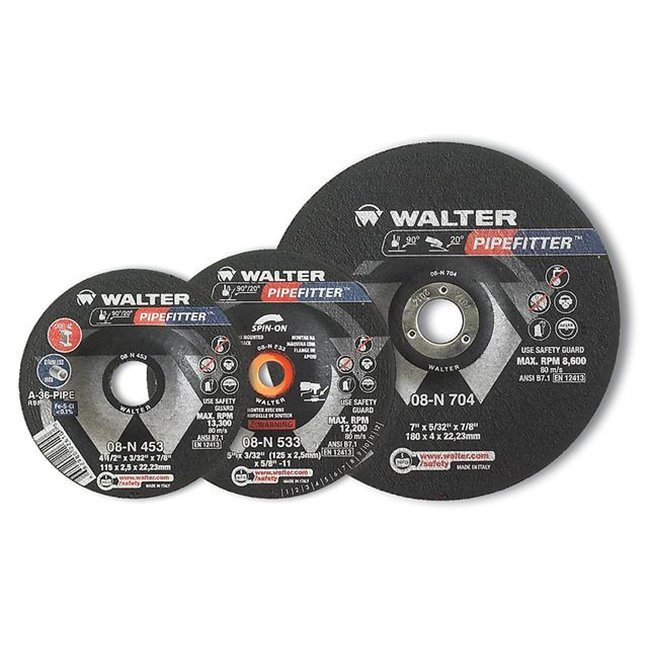 """Walter 08N502 Pipefitter Grinding Wheel 5""""-1/8""""-7/8"""""""