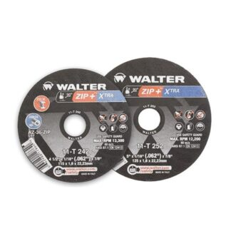 "Walter 11T252 Zip+XTRA Cut-Off Wheel 5""-1/16""-7/8"""