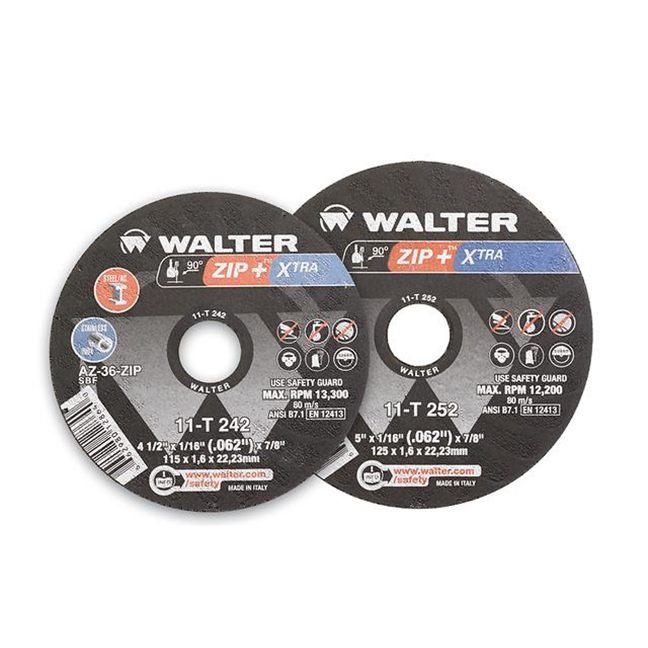 "Walter 11T252 Zip+XTRA Cut-Off Wheel 5""-1/16""-7/8"""