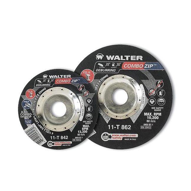 """Walter 11T852 Combo Zip Cut-Off Wheel 5""""-5/64""""-7/8"""""""