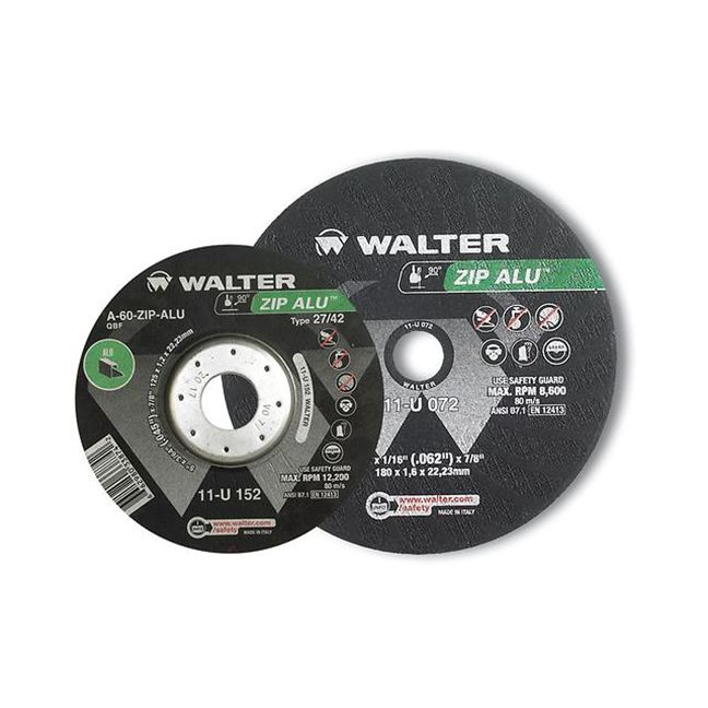 "Walter 11U062 Zip ALU Cut-Off Wheel 6""-3/64""-7/8"""