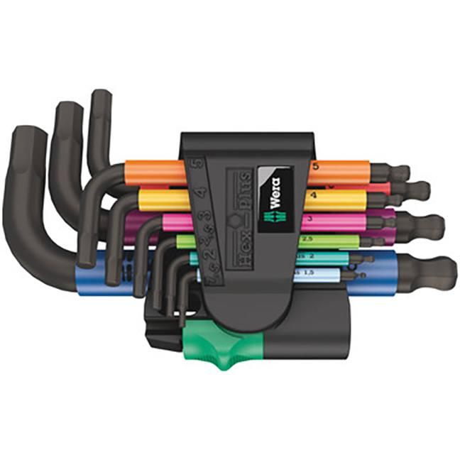 Wera 133164 950/9 Hex-Plus Multicolour 2 Hex Key Set