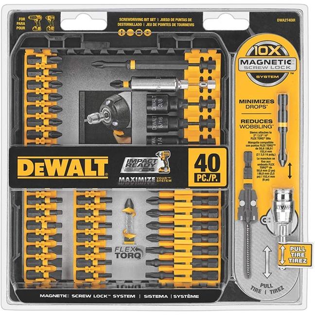 DeWalt DWA2T40IRC Flex Torq Impact Ready Bits 40PC