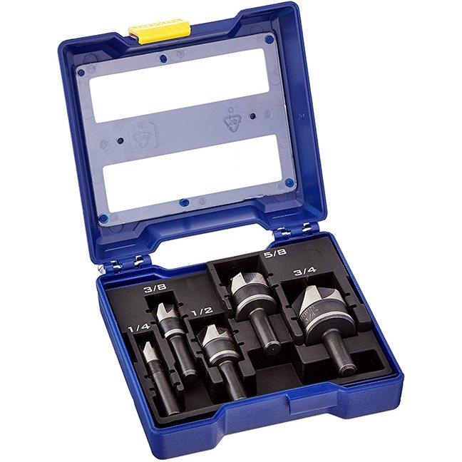 Irwin 1877793 Black Oxide Countersink Drill Bit Set 5-Piece