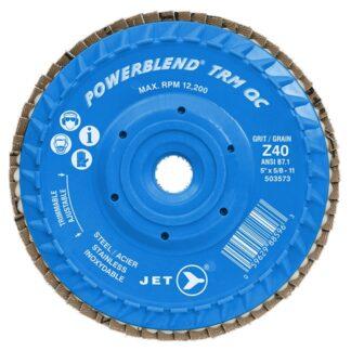 Jet 503573 Z40 POWERBLEND TRM QC Zirconia Flap Disc