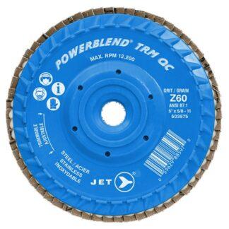 Jet 503575 Z60 POWERBLEND TRM QC Zirconia Flap Disc