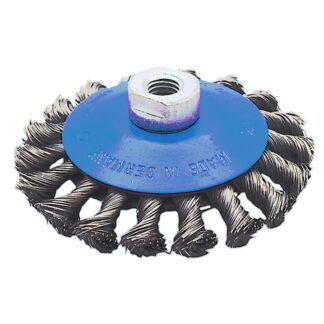 """Jet 554359 4-1/2"""" Knot Twisted Conical Brush SST"""