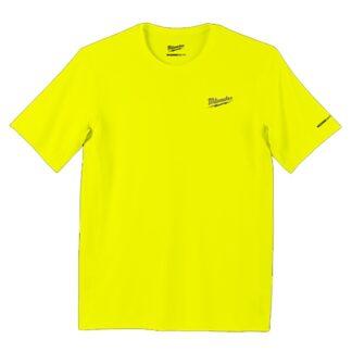 Milwaukee 414HV WORKSKIN Lightweight Performance T-Shirt Hi Viz