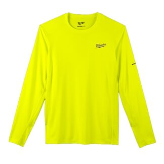 Milwaukee 415HV WORKSKIN Lightweight Performance Long Sleeve T-Shirt Hi Viz