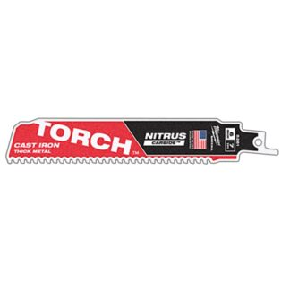 "Milwaukee 48-00-5261 6"" 7TPI The TORCH with NITRUS CARBIDE for CAST IRON 1PK"