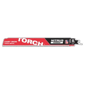 "Milwaukee 48-00-5262 9"" 7TPI The TORCH with NITRUS CARBIDE for CAST IRON 1PK"
